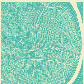 ST LOUIS STREET MAP - Jazzberry Blue