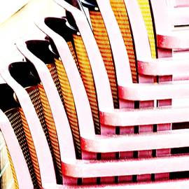 Stacked Chairs Abstract by Kae Cheatham