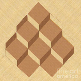 Stacked Cubes In 3-d by Charles Robinson
