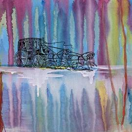 Stagecoach In The Rain by Barbara St Jean