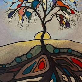 Kimberly Benedict - Stained Glass Autumn Tree
