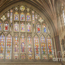 Stained glass window in Exeter Cathedral by Patricia Hofmeester