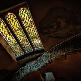 STAIRCASE WITH GLASs WINDOW by Enrico Pelos