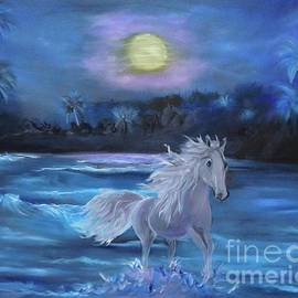 Stallion in the Moonlight by Jenny Lee