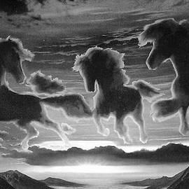 Mario Carini - Stallions in the Clouds