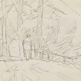 Anton Mauve - Standing figure on a path, Anton Mauve, 1848 - 1888