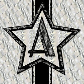 Star Of The Show Art Deco Monogram by Cecely Bloom
