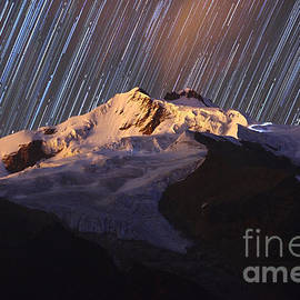 Star Trails Over Mt Huayna Potosi by James Brunker