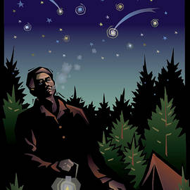 Starry Sky with Man