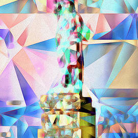Wingsdomain Art and Photography - Statue of Liberty New York in Abstract Cubism 20170327