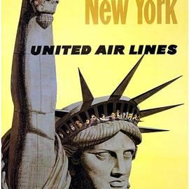 Studio Grafiikka - Statue of Liberty, New York - Vintage Illustrated Poster