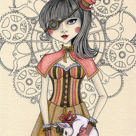 Snezana Kragulj - SteamPunk Alice and the white rabbit
