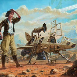SteamPunk Girl with SpaceShip