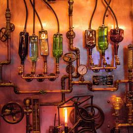 Steampunk Interior Design 3 Liquor Wall Dispenser Atlanta ManCave Bar Art by Reid Callaway