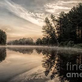 Steely Sunrise on the Androscoggin River by Jan Mulherin