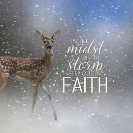 Step Out In Faith - Deer Art by Jai Johnson