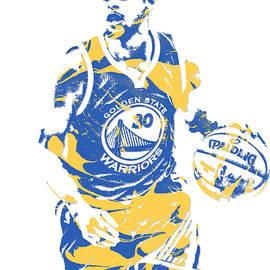 Stephen Curry GOLDEN STATE WARRIORS PIXEL ART 21 - Joe Hamilton