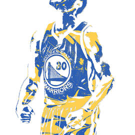 Stephen Curry GOLDEN STATE WARRIORS PIXEL ART 22 - Joe Hamilton