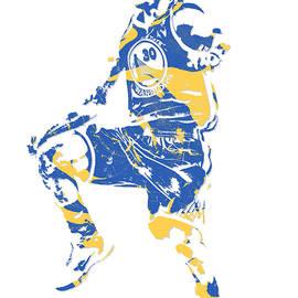 Stephen Curry GOLDEN STATE WARRIORS PIXEL ART 23 - Joe Hamilton