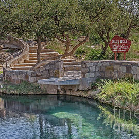 Steps Leading To The Blue Hole by Sue Smith