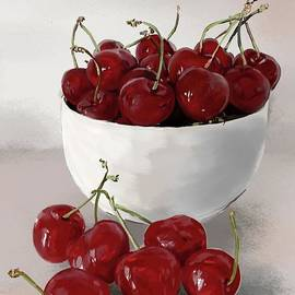 Still Life Cherry by Nesrin Gulistan