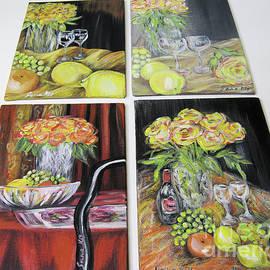 Oksana Semenchenko - Still Life. Paintings 5 on 7 inches on panels