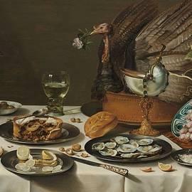 Pieter Claesz - Still Life with a Turkey Pie, Pieter Claesz., 1627