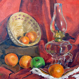 Still Life with an Oil Lamp by Susan Lafleur