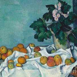 Still Life with Apples and a Pot of Primroses, 1890 - Claude Monet