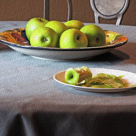 Lynda Lehmann - Still Life with Apples and Chair