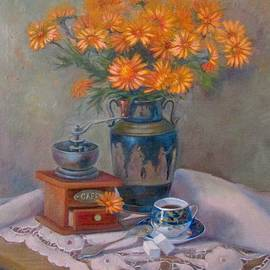 Anna Shurakova - Still life with blue cup