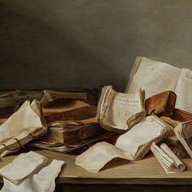 Still a Life with Books and Violin - Jan Davidsz de Heem
