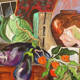 Still Life With Cabbage And Shell by Bonnie See
