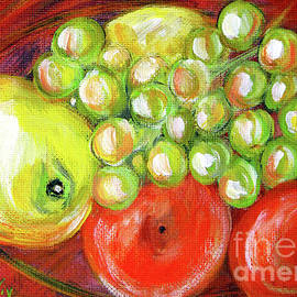 Still Life with Fruit. Painting by Oksana Semenchenko