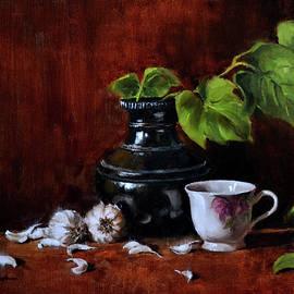 Still Life With Garlic by Vinayak Deshmukh