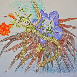 Still Life With Mesquite Pods and Copper Frond by Bonnie See