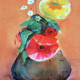 Still Life With Poppy by Jasna Dragun