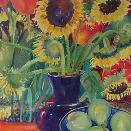 Darlene Van Sickle - Still Life with Sunflowers and Pears