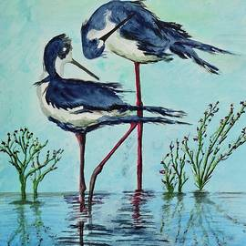 Stilts Bathing by Linda Brody