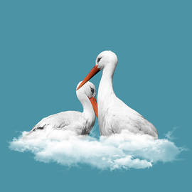 Storks On Clouds by Absentis Designs