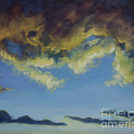 Liesl Walsh - Storm Clouds Clearing For Peace, with Frame