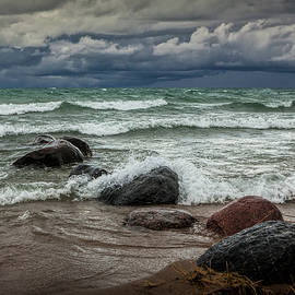 Storm on Sturgeon Bay by Randall Nyhof
