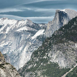 Storm Over Half Dome by Sandra Bronstein