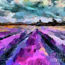 Storm Over The Lavender Fields by Dragica Micki Fortuna
