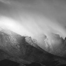 Mary Lee Dereske - Storm Over the Sandias in Black and White
