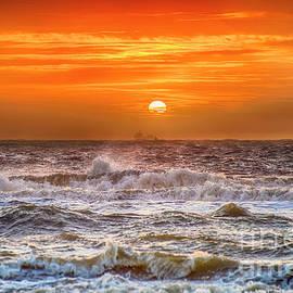 Alex Hiemstra - Stormy Dutch Sunset