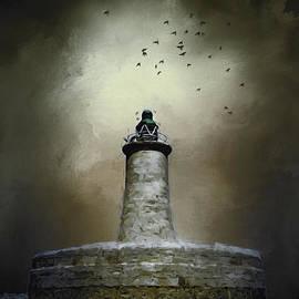 Ann Garrett - Stormy Lighthouse Valletta Malta