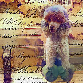 Nina Silver - Story of a Painted Poodle on a Park Bench