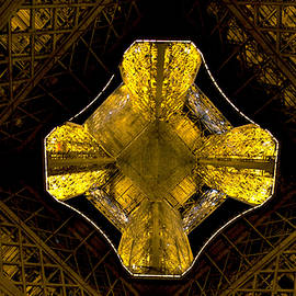 Straight Up Eiffel at Night by Michael Riley