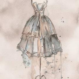 Strapless Champagne Dress by Lauren Maurer